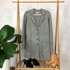 J. Crew Donegal Lambswool Gray Sweater Coat